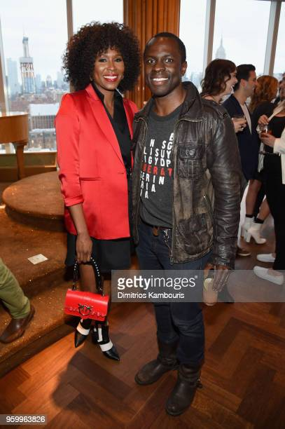 Sydelle Noel and Gbenga Akinnagbe attend the Vulture Festival Presented By ATT Opening Night Party at The Top of The Standard on May 18 2018 in New...