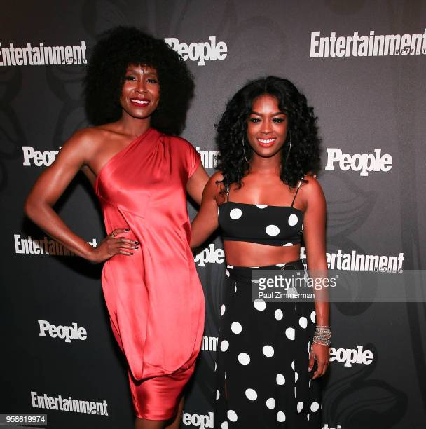 Sydelle Noel and Javicia Leslie attend the 2018 Entertainment Weekly PEOPLE Upfront at The Bowery Hotel on May 14 2018 in New York City