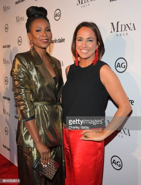 Sydelle Noel and Marie Claire EditorinCheif Anne Fulenwider attend the Marie Claire's Image Makers Awards 2018 on January 11 2018 in West Hollywood...