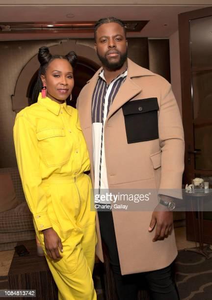 Sydelle Noel and Winston Duke attend MCM x GQ Celebrate 2018 Breakout Star Winston Duke The Restaurant at Montage Beverly Hills on December 19 2018...