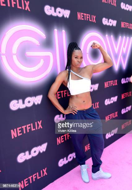 Sydelle Noel attends the Netflix Original Series 'GLOW' 80's Takeover Of Muscle Beach on June 29 2018 in Venice California