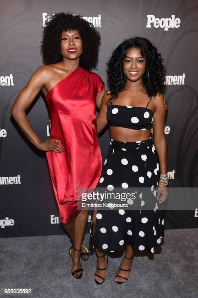 Sydelle Noel of Glow and Javicia Leslie of God Friended Me attend Entertainment Weekly PEOPLE New York Upfronts celebration at The Bowery Hotel on...