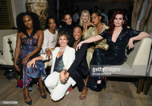 Sydelle Noel Tichina Arnold Gabrielle Carteris Dascha Polanco Samira Wiley Tracee Ellis Ross and Megan Mullally attend The Hollywood Reporter...