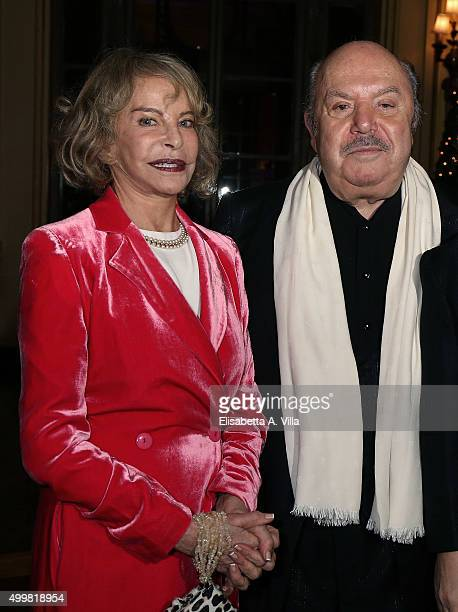 Sydne Rome and Lino Banfi attend the Pink Tie Ball Cocktail on December 3, 2015 in Rome, Italy.