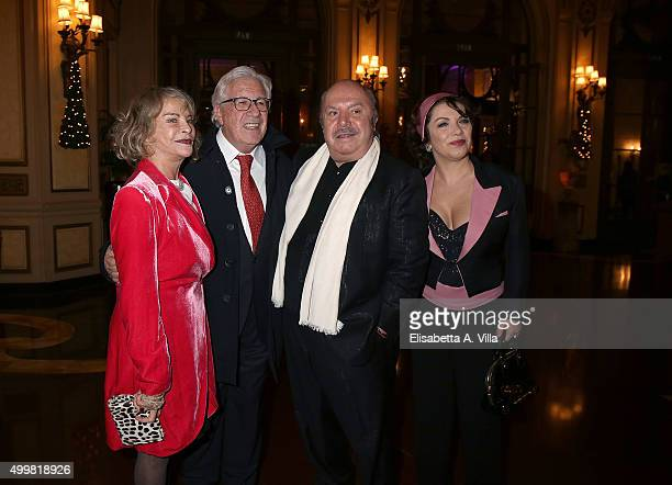 Sydne Rome Peppino Di Capri Lino Banfi and Rosanna Banfi attend the Pink Tie Ball Cocktail on December 3 2015 in Rome Italy