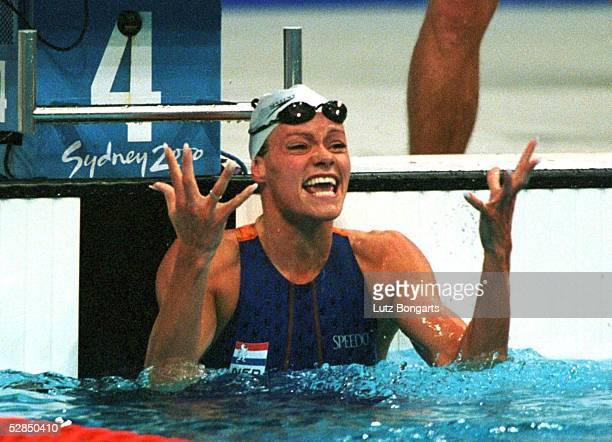 Sydney; 100m SCHMETTERLING/FRAUEN; Inge DE BRUIJN/NED - GOLD -