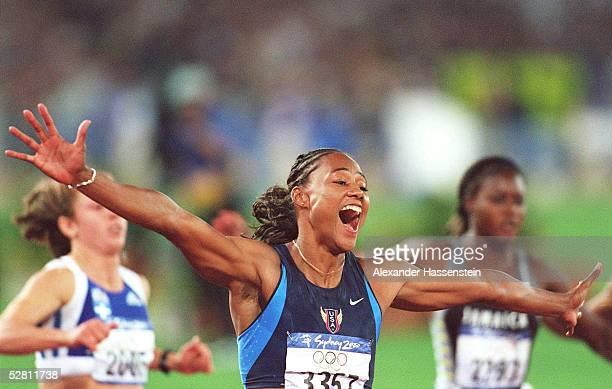 SYDNEY 2000 Sydney 100m/FINALE /FRAUEN Marion JONES/USA GOLD