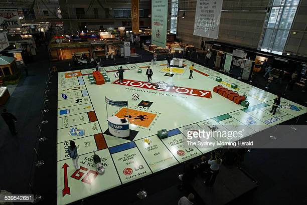 Sydney 2005 Home Show photo shows the world's largest Monopoly board in action 12 May 2005 SMH Picture by PETER RAE
