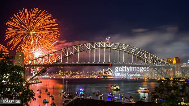 Sydney 2016 New Year Eve Fireworks Show at the Harbour Bridge
