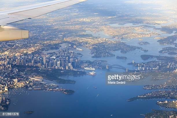 Sydney aerial sunrise