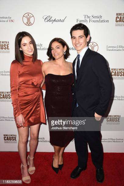 Sydney Agus Amy Povich and Miles Agus attend the Transformative Medicine of USC Rebels with a Cause GALA at on October 24 2019 in Santa Monica...