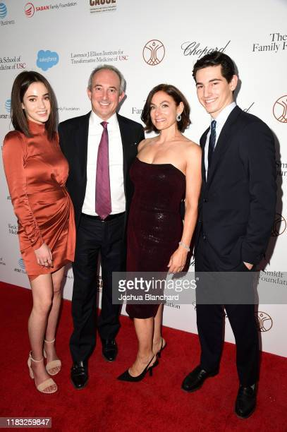 Sydney Agus Dr David Agus and Amy Povich and Miles Agus attend the Transformative Medicine of USC Rebels with a Cause GALA at on October 24 2019 in...