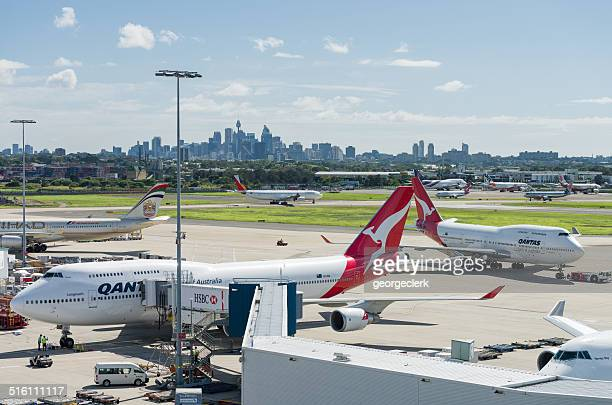 Sydney airport and the city skyline
