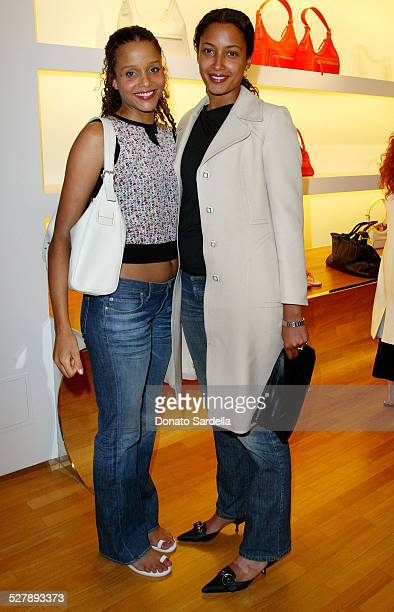 Sydney Anika Poitier during Hogan Trunk Show Party at Hogan Store in Beverly Hills California United States