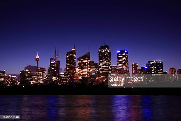 sydney at night - sydney stock pictures, royalty-free photos & images