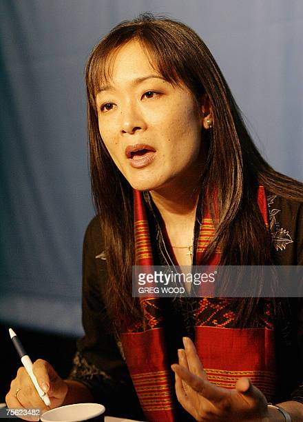 Annette Sohn Assistant Professor of Pediatric Infectious Diseases at the University of California speaks to journalists 25 July 2007 during the 4th...
