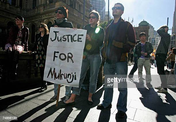 Australian activists are protesting for Mulrunji's justice at Sydney's Townhall 22 June 2007 A Queensland jury yesterday found Senior Sergeant Hurley...