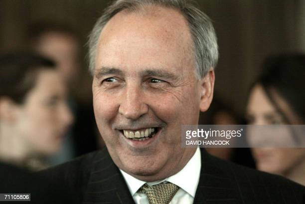 Former prime minister Paul Keating smiles after a book launching in Sydney 02 June 2006 Reflecting on the past decade and the political tactics of...