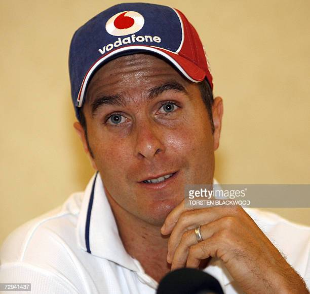 Michael Vaughan holds court during a press conference in Sydney, 07 January 2007, at which it was announced he had been reinstated as England captain...