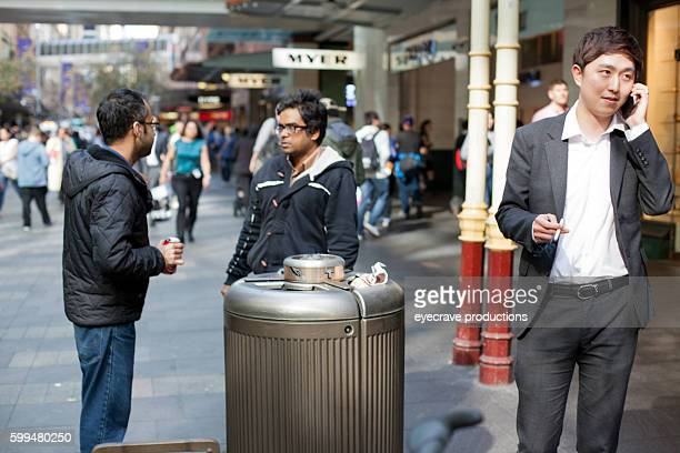 sydney australia shopping district street views - flower part stock pictures, royalty-free photos & images