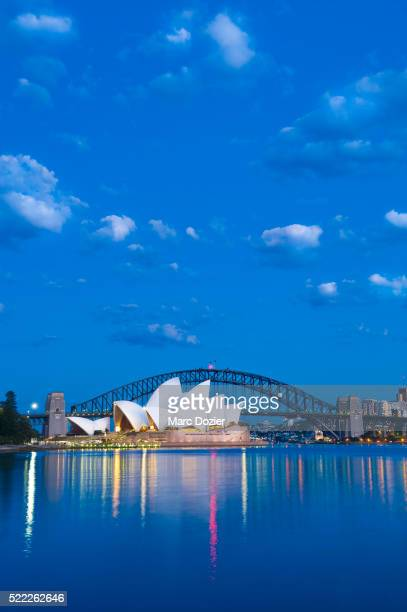 sydney bay with the opera house - sydney ストックフォトと画像