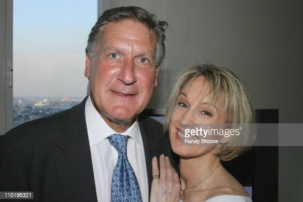 Sydney Biddle Barrows and Michael Beckman during Spring Into Summer Party Inside Party at New York Penthouse in New York New York United States