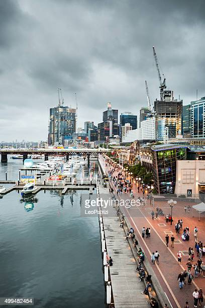 sydney cbd and darling harbor - darling harbour stock pictures, royalty-free photos & images