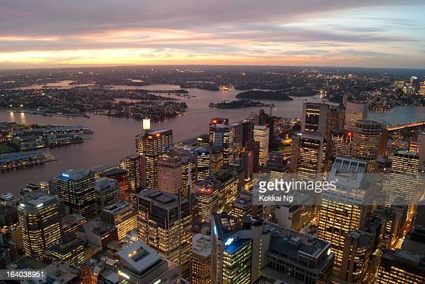 Sydney CBD from Centrepoint Tower