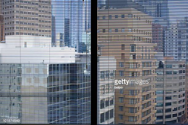 Sydney CBD Through Blinds
