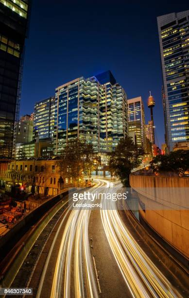 Sydney Central Business District at night