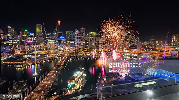 Sydney City and Darling Harbour Firework.