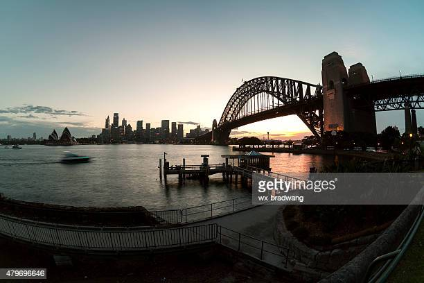 Sydney city buildings at night