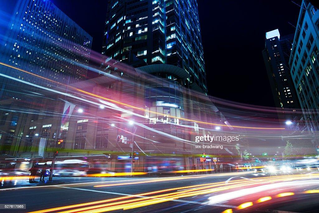 Sydney city roads at night : Stock Photo