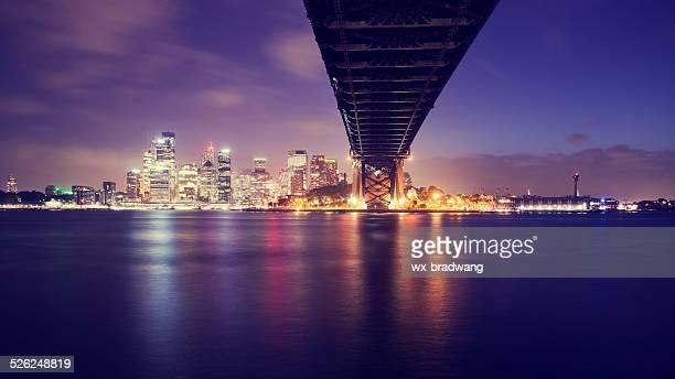 Sydney city skyline in the evening