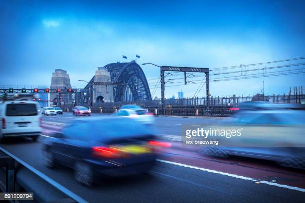 sydney city transportation - traffic stock pictures, royalty-free photos & images