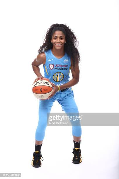 Sydney Colson of the Chicago Sky poses for a portrait during Media Day on August 5 2020 at IMG Academy in Bradenton Florida NOTE TO USER User...