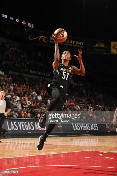 Sydney Colson of the Las Vegas Aces goes to the basket against the China National Team in a WNBA preseason game on May 6 2018 at the Mandalay Bay...