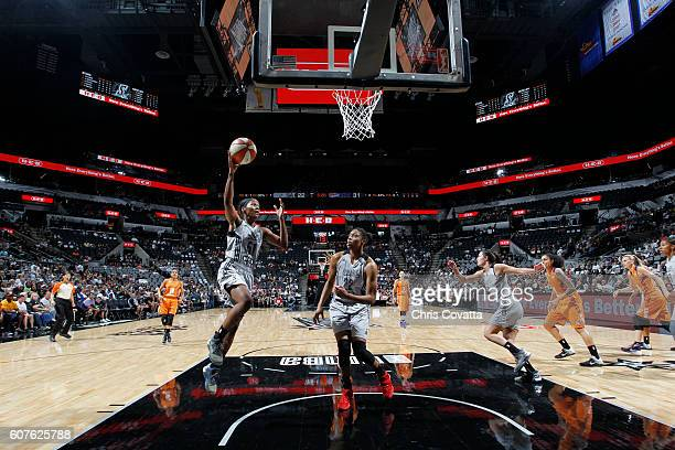 Sydney Colson of the San Antonio Stars shoots the ball against the Phoenix Mercury on September 18 2016 at ATT Center in San Antonio Texas NOTE TO...