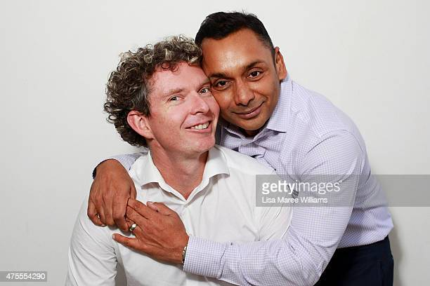 Sydney couple Andrew Reid and Warren Peppin pose during a portrait session on June 1 2015 in Sydney Australia Andrew and Warren have been together...