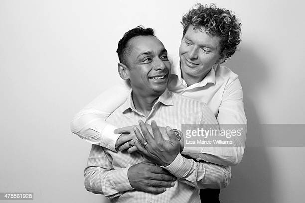 Sydney couple Warren Peppin and Andrew Reid pose during a portrait session on June 1 2015 in Sydney Australia Andrew and Warren have been together...