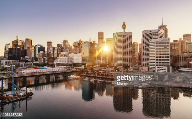 Sydney Darling Harbour Cityscape at Sunrise Australia
