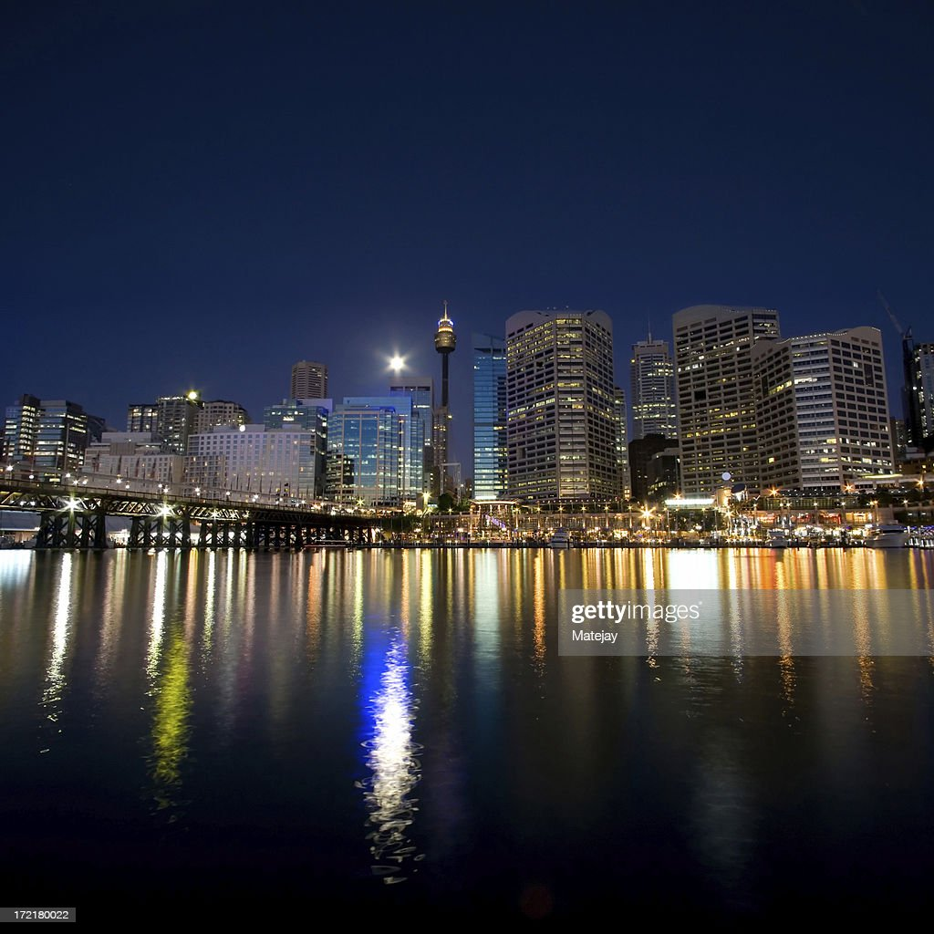 Sydney Darling Harbour twilight : Stock Photo