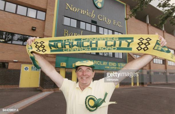 Sydney Devine Singer pictured standing outside Norwich City Football Club Carrow Road Circa 1995