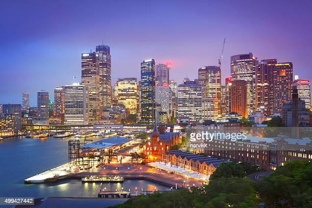 Sydney downtown by twilight