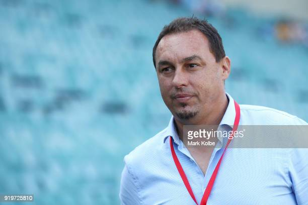 Sydney FC coach Ante Juric watches on during the WLeague Grand Final match betweenSydney FC and Melbourne City FC at Allianz Stadium on February 18...