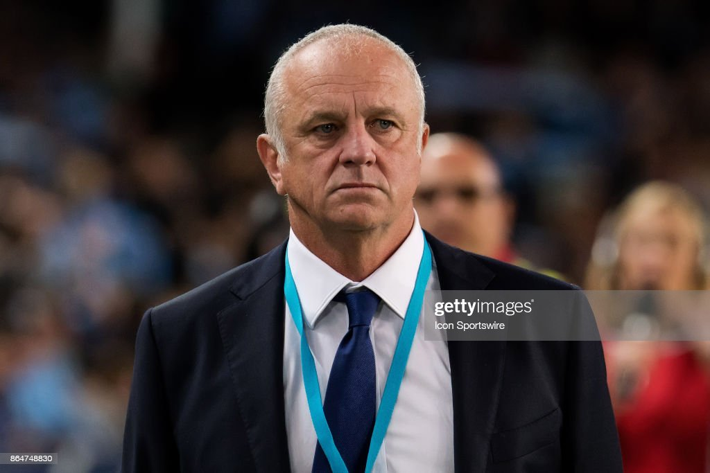 Sydney FC coach Graham Arnold at the Hyundai A-League match between Sydney FC and Western Sydney Wanderers on October 21, 2017 at Allianz Stadium in Sydney, Australia.
