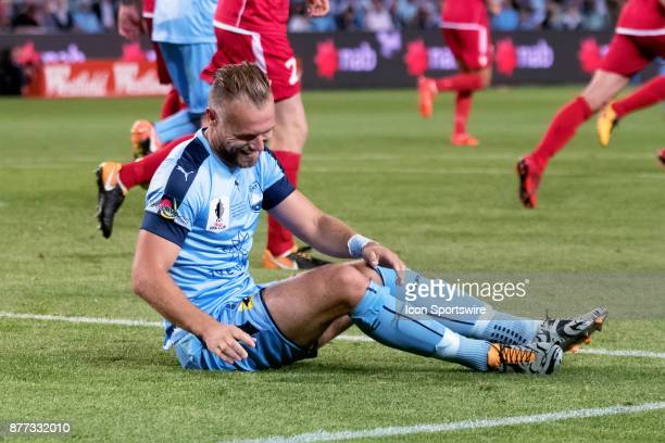 Sydney FC defender Jordy Buijs at the FFA Cup Final Soccer between Sydney FC and Adelaide United on November 21 2017 at Allianz Stadium Sydney