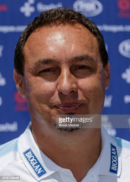 Sydney FC Head Coach Ante Juric speaks during the WLeague 2018 Grand Final Media Conference Photo Opportunity at Sydney Cricket Ground on February 17...