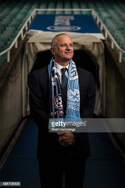 Sydney FC Head Coach Graham Arnold poses for a photo during the Sydney FC ALeague coach announcement at Allianz Stadium on May 8 2014 in Sydney...