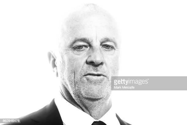 Sydney FC head coach Graham Arnold talks to media during a Sydney FC ALeague sponsorship announcement at The Star on October 19 2017 in Sydney...
